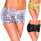 HOT SALE! Womens Shinning Sexy Sequins Clubwear Party Dance Stretch Shorts Pants
