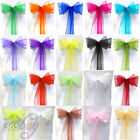 Organza Sash Bow Banquet Feast Chair Ribbons Cover Decoration For Wedding Party
