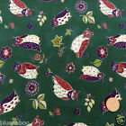"PER 1 2 metre OWL  fabric 5 colours 112cm 44 "" wide  100% cotton poplin"