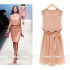 HOT Women's Chiffon Bridesmaids Sleveless Cocktail Evening Party Prom Mini Dress