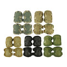 Durable Airsoft Rubber Tactical Knee Elbow Protector Pad Black TAN ACU CP Green