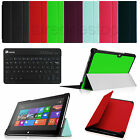 "For 10.6"" Microsoft Surface RT Surface 2 Leather Case Cover + Bluetooth Keyboard"