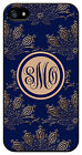 Personalized Monogram Royal Romance Navy case for Iphone 4 4s 5 5s 5c M235