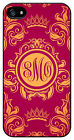 Personalized Monogram Royal Romance Burgandy case for Iphone 4 4s 5 5s 5c M236