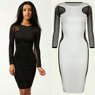 Sexy Women hollow out lace Long sleeve dress Slim Maxi Elegant party club shirts