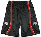Zipway NBA Basketball Men's Los Angeles Clippers Mesh Striped Shorts, Black