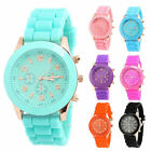 Colorful Women Men Geneva Silicone Jelly Gel Quartz Analog Sports Wristwatch Hot