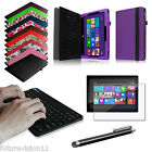 Leather Case Cover Bluetooth Keyboard Microsoft Surface Pro/Pro 2 10.6 Windows 8