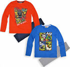 Boys Teenage Mutant Ninja Turtles Pyjamas New Long Sleeve Pjs Set Age 3 -8 Years