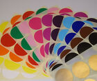 20mm 25mm Round Blank Price Stickers Coloured Labelling Code Dots Sticky Labels
