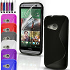 S-Line Silicone Gel Case Cover Pouch For HTC One Mini 2 & FREE Screen Protector