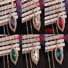 """In 6 Colors New Women 14k Gold Filled Crystal Pendant 30""""Dress Chain Necklace"""