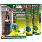 LARGE MAGIC ★WHITE-GREEN-BLUE★ INSECT DOOR MESH Magnetic Bug Fly Mosquito Screen