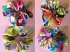 NEW CHIFFON FLORAL HAIR SCRUNCHIE PONYTAIL BAND ELASTIC RETRO FLOWER HOLIDAYS