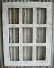 Barn Wood Rustic Decor 9-Pane Photo Picture Frame 4x6 or 5x7 (Many Colors!)