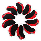 10Pcs Neoprene Golf Club Iron Head Covers Protect Protective Case Headcovers Set