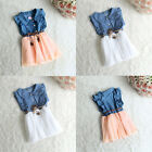 Fashion Baby Girls Child Princess Party Dress Kid Summer Denim Jeans Dress Skirt