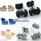 2pc Stainless Steel Punk Cool Batman Logo Earrings Men Women Ear Studs Piercing