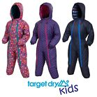 Target Dry Snuggle Boys Girls Kids Waterproof Padded Insulated Rain Snow Suit