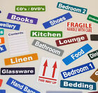 Moving Home - Cardboard Box & Furniture - Colour Code ID Stickers / Labels