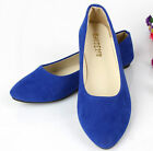 Ladies Ballerina Dolly Microsuede Pump Womens Slippers Flat Shoes,9 Colors