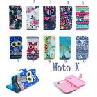 For Motorola Moto X XT1058 CALM OWL Tower Clip PU Leather Case Flip Stand Wallet