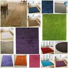 Modern Quality Contemporary Solid Shaggy Rug 14 Colours 8 Different Sizes