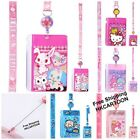SANRIO HELLO KITTY LITTLE TWIN STARS PVC CARD HOLDER W/ ZIPPER AG & RETRAP