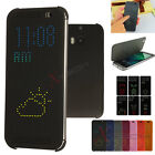 Slim DOT MATRIX VIEW Smart Flip Case Cover for HTC One M8 (2014 Edition)