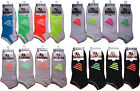 3 Pairs of Mens NEON TRAINER SOCKS/LINERS COTTON Black/Grey/White SIZE 6 TO 11