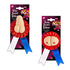 NOVELTY BOOBS WILLY AWARD RIBBON HEN STAG NIGHT PARTY RED WHITE BLUE ADULT TOY