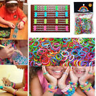 Mix Color Rubber Elastic Rainbow Bands For Loom DIY Making Bracelet + S Clips