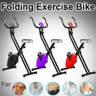 Folding Magnetic Exercise Bike X-Shape Fitness Cardio Workout WeightLoss Machine