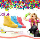 Fashion Women's PU Leather Candy Color Hip-hop sport shoes boots Sneakers OD US