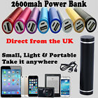 Mobile Phone Battery Charger Power Bank 2600 mAh USB iPhone iPad Xmas Gift