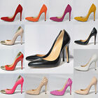 WOMENS SEXY HIGH HEELS POINTED CORSET STYLE WORK PUMPS COURT SHOES SIZE UK 2-9