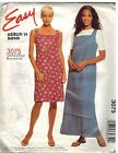 3075 UNCUT McCalls SEWING Pattern Misses Pullover Dress Jumper Easy Stitch Save