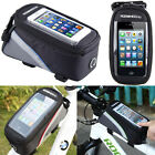 Bicycle Bike Mobile Phone Holder iPhone Frame Pouch Bag Case Carrier Cycle Black