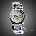 New Fashion Ladies Women Girl Unisex Stainless Steel Quartz Analog Wrist Watch