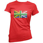 South African Union Jack - Womens / Ladies T-Shirt - UK Flag - South Africa