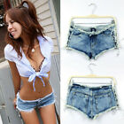 2014 Sexy Womens Side Straps Hot pants Jeans Worn Denim Shorts Nightclub Party