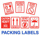 Packing Stickers - Fragile - Heavy - Keep Dry - Documents Enclosed - Keep Dry