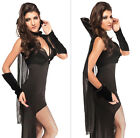Hot Sell Vampire Halloween Costume Sexy Women Countess Of The Night Fancy Dress