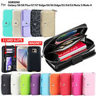 Galaxy S8 S8 Plus Case for Samsung Zip Wallet Leather Cover Magnetic Coins