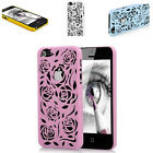 3D ROSE FLOWER HARD PLASTIC CASE FOR IPHONE 5S & 5 COVER BACK SKIN HOLLOW APPLE