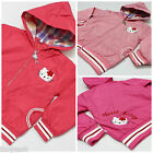 Girls Hello Kitty Cotton Jacket Hooded Coat Pink Peach size 18M-2y to 5 6 years