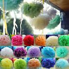 "6"" 8"" 10"" 12"" Tissue Paper Pom Poms Flower Balls Wedding Party Birthday Decor"