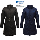 REGATTA AUDREY LADIES LONG QUILTED JACKET INSULATED WATER REPELLENT COAT SALE