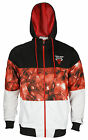 Zipway NBA Men's Chicago Bulls Ruby Hooded Track Jacket - Black / Red