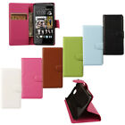 FL Flip PU Leather Wallet Card Holder Stand Case Cover for HTC Desire D300